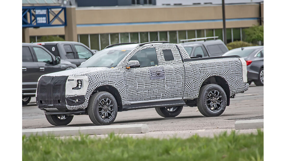 Erlkoenig Ford Ranger Supercab Wild Track