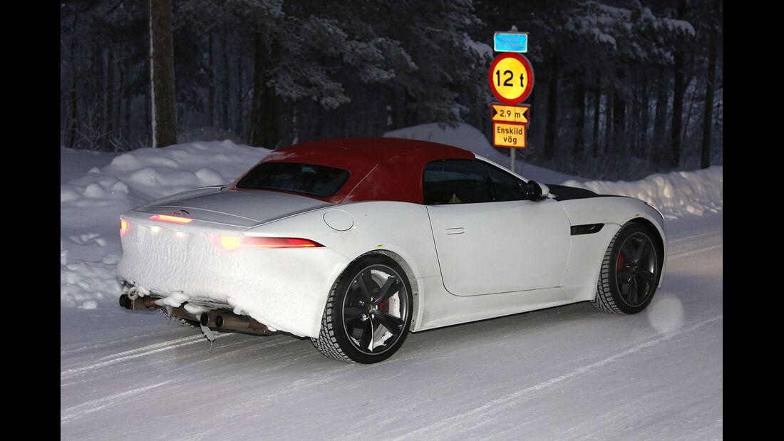 Erlkönig Jaguar F-Type Cabrio Vierzylinder