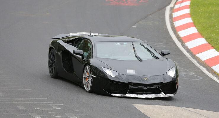 Erlkönig, Lamborghini Aventador SV