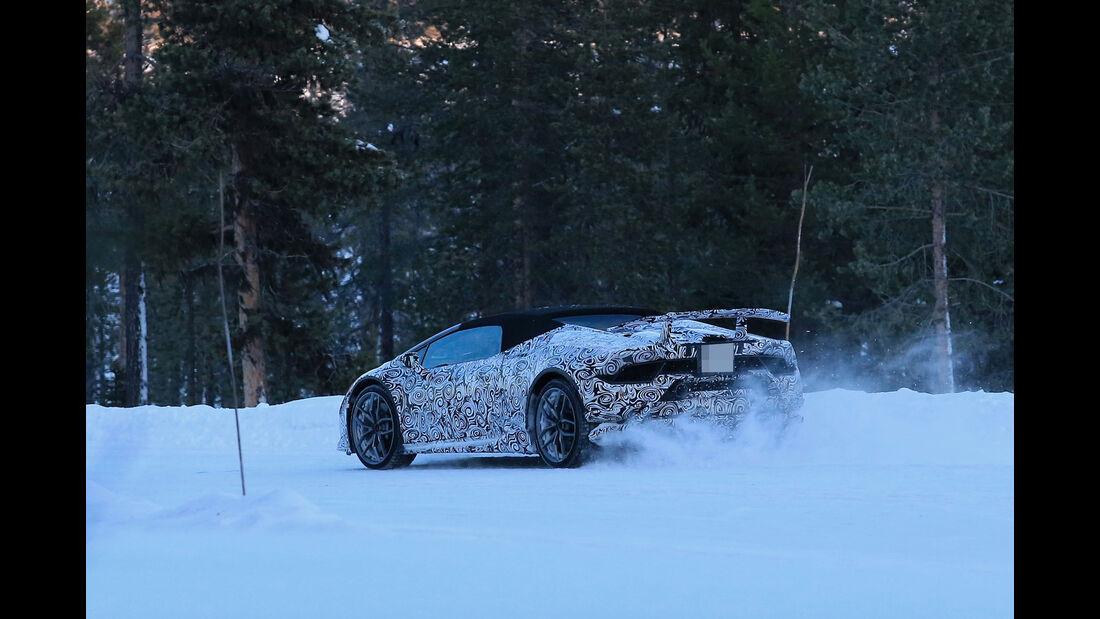 Erlkönig Lamborghini Huracan Spyder Performante