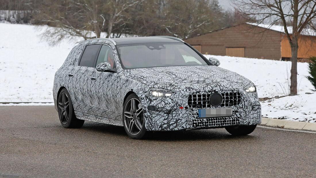 Erlkönig Mercedes-AMG C43 T-Modell
