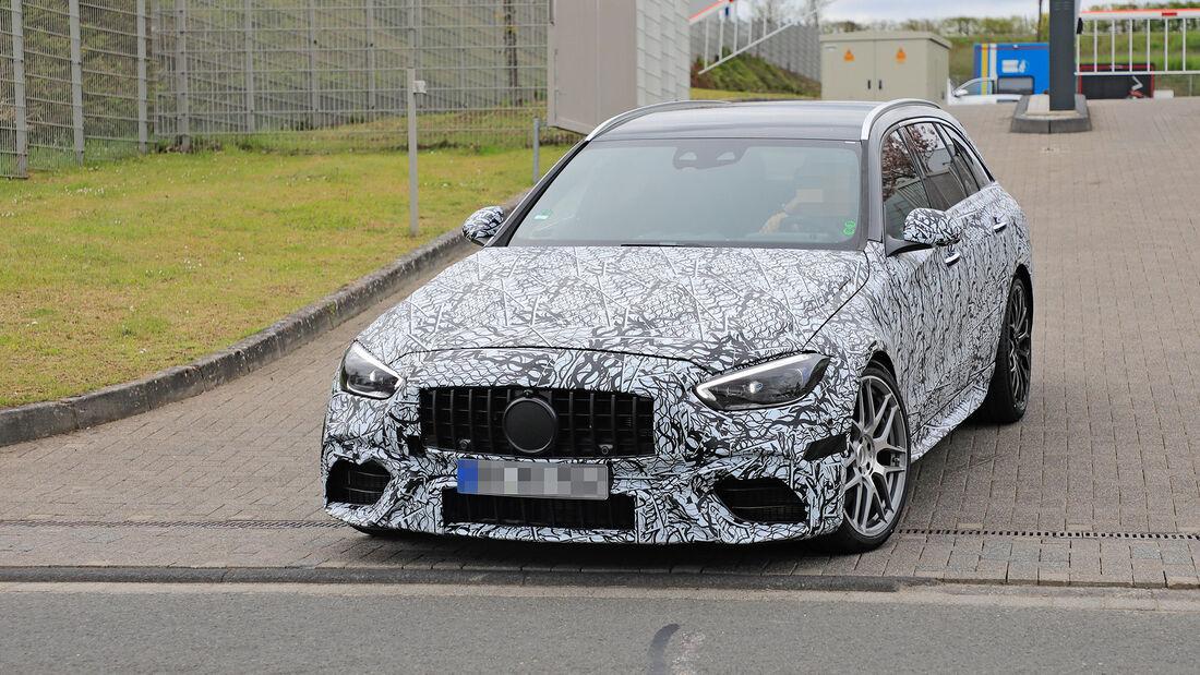 Erlkönig Mercedes-AMG C63 T-Modell