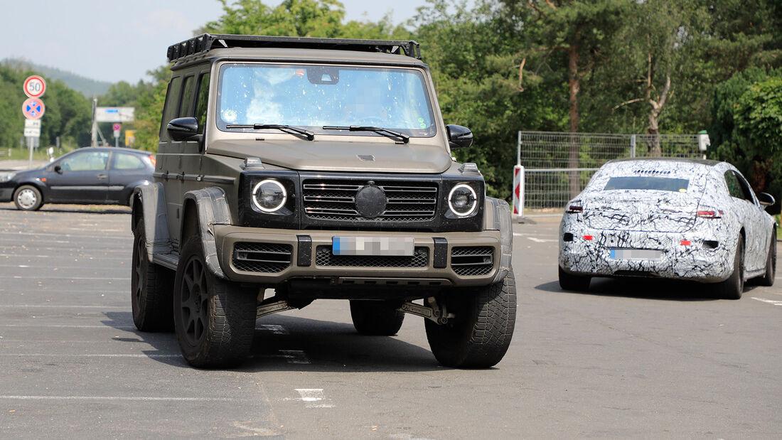 Erlkönig Mercedes AMG G4x4 hoch 2