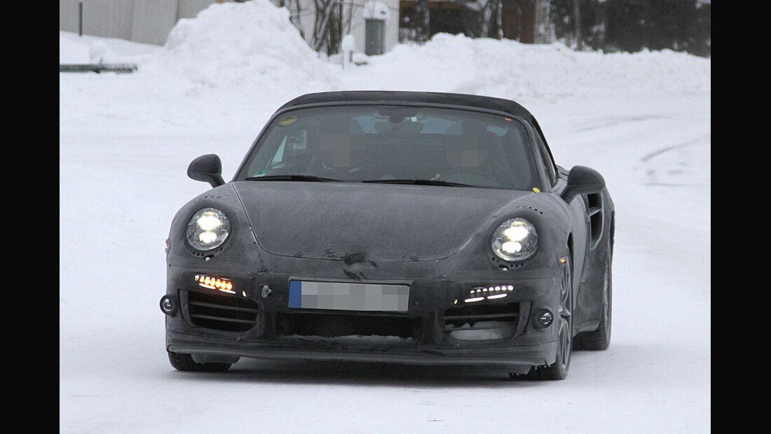 Erlkönig Porsche 911 Turbo Cabrio
