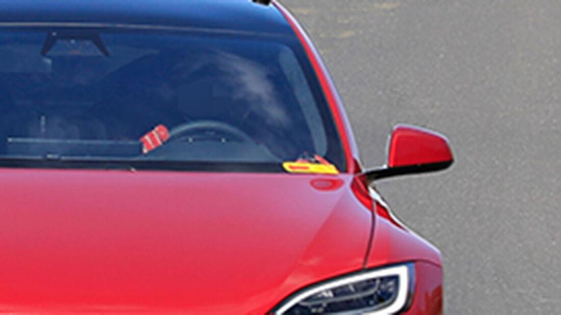 Erlkönig Tesla Model S Plaid Nürburgring
