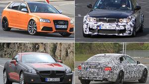 Erlkönige BMW M1, Audi RS3, Mercedes SLK, Audi S7