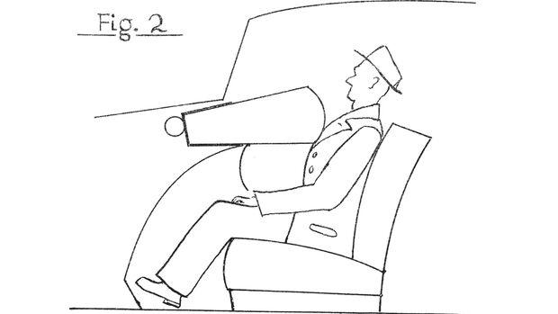Erster Airbag 1951 Zeichnung aus Patentschrift