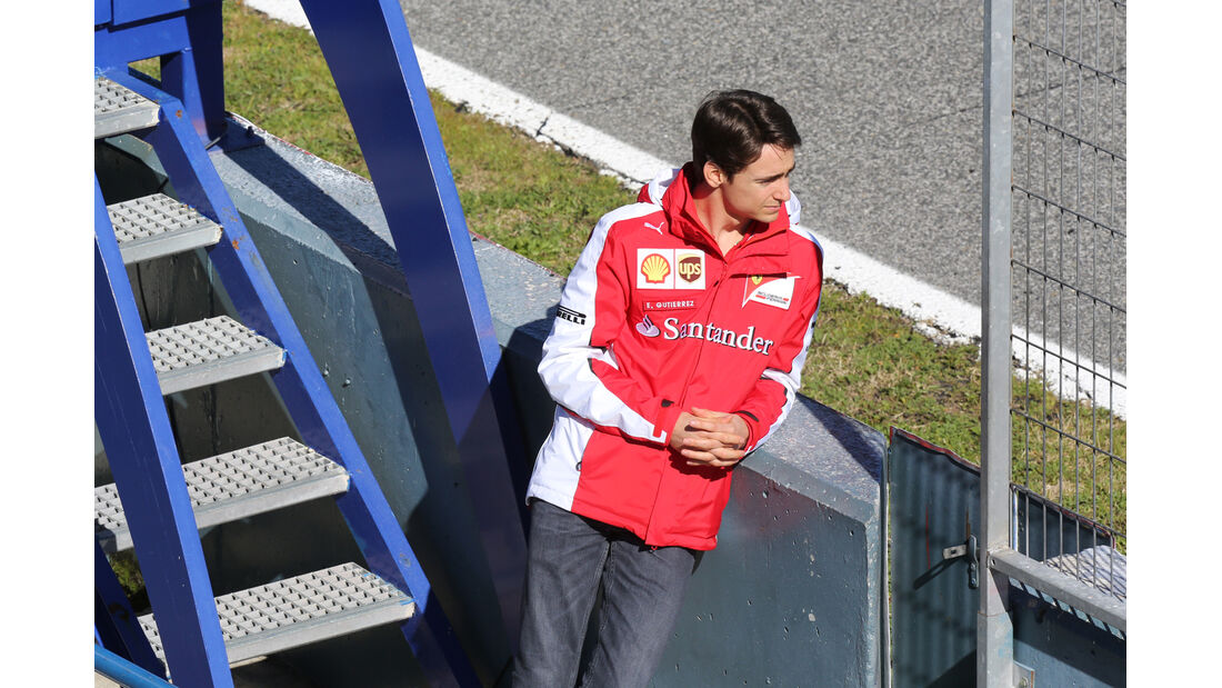Esteban Gutierrez - Ferrari - Formel 1-Test Jerez - 1. Febraur 2015