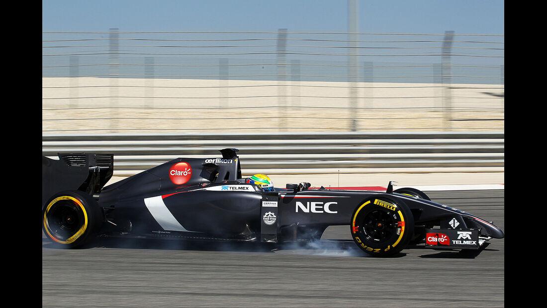 Esteban Gutierrez - Formel 1 - Bahrain - Test - 21. Februar 2014