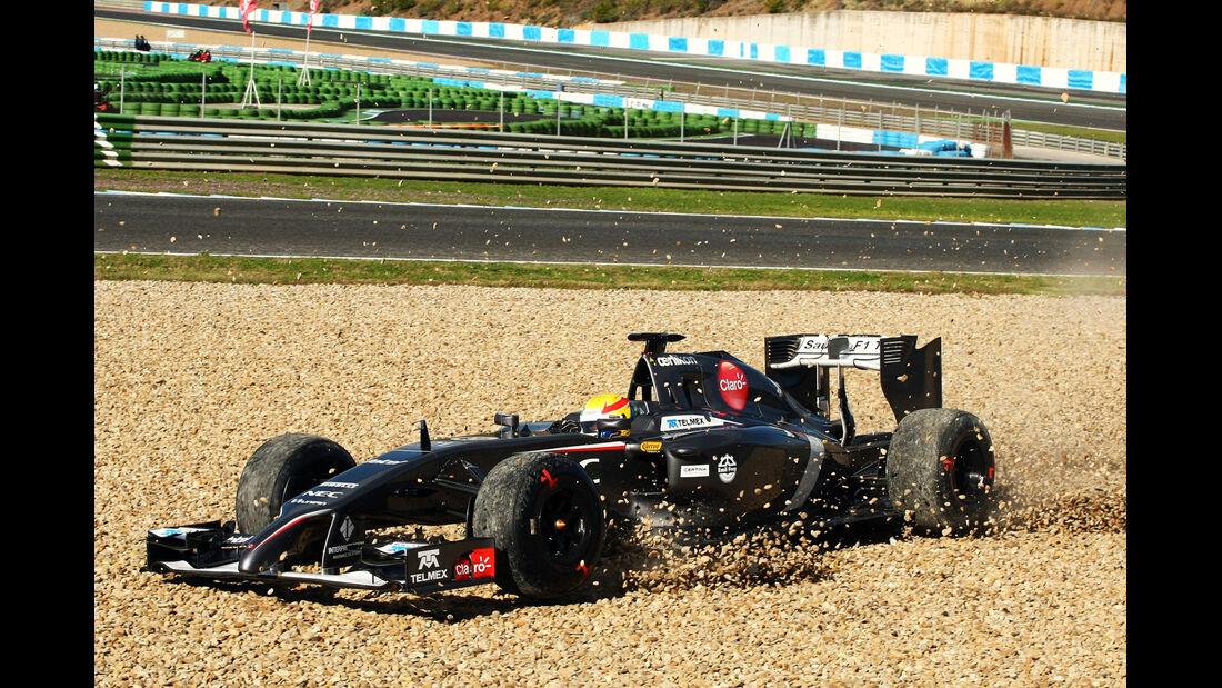 Esteban Gutierrez - Formel 1 - Jerez-Test 2014