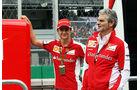 Esteban Gutierrez & Maurizio Arrivabene - Ferrari - Formel 1 - GP Mexico - 29. Oktober 2015