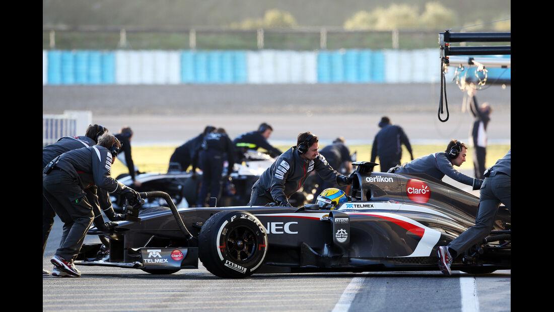 Esteban Gutierrez Sauber F1 Test Jerez 2013 Highlights