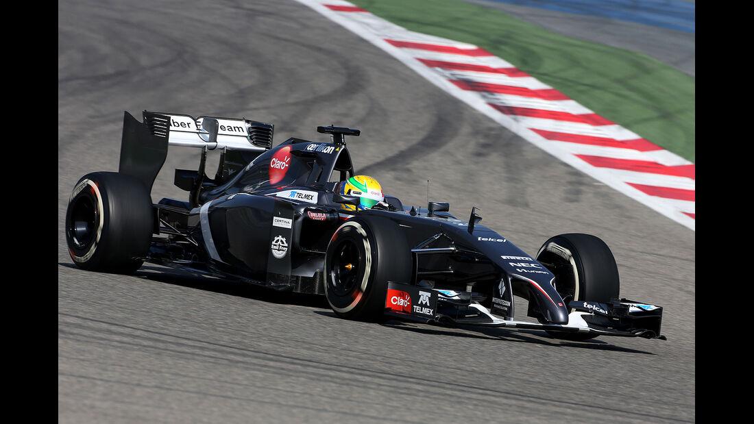 Esteban Gutierrez - Sauber - Formel 1 - Bahrain - Test - 20. Februar 2014