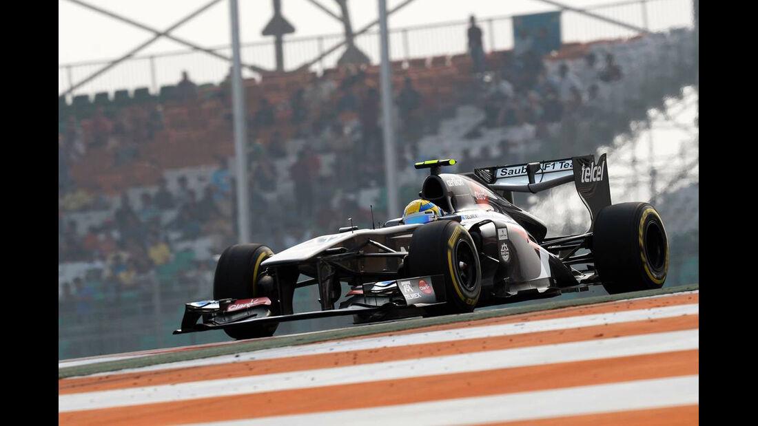 Esteban Gutierrez - Sauber - Formel 1 - GP Indien - 26. Oktober 2013