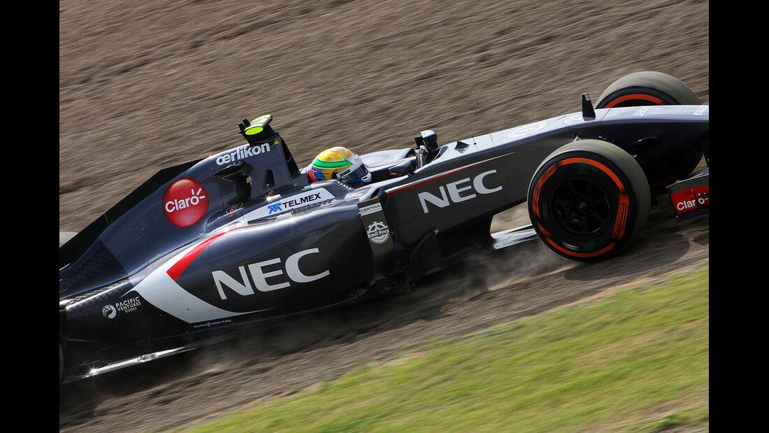 Esteban Gutierrez - Sauber - Formel 1 - GP Japan - 3. Oktober 2014