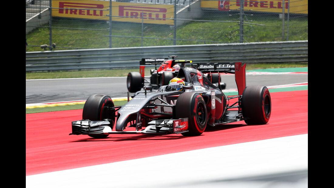 Esteban Gutierrez - Sauber - Formel 1 - GP Österreich - Spielberg - 21. Juni 2014