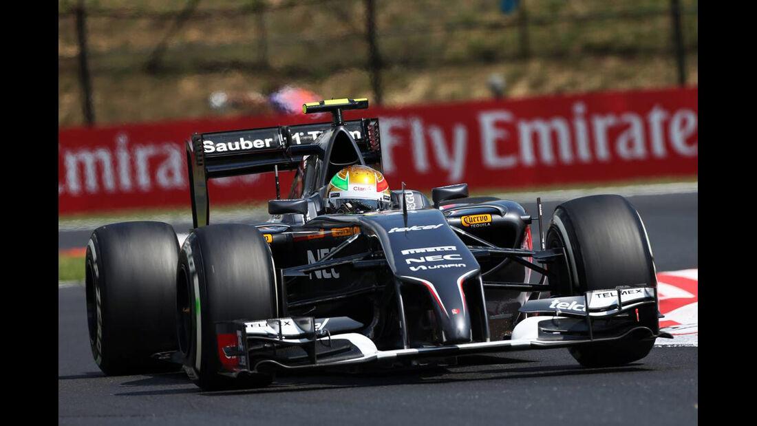 Esteban Gutierrez - Sauber - Formel 1 - GP Ungarn - 26. Juli 2014