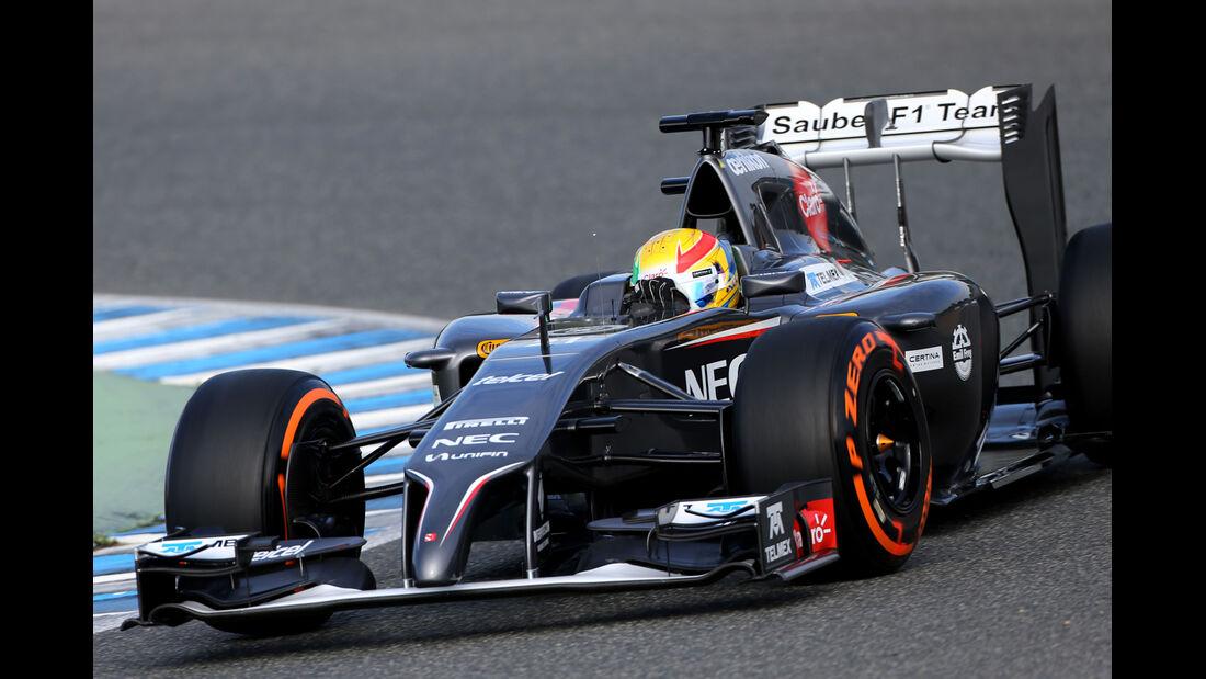 Esteban Gutierrez - Sauber - Formel 1 - Jerez-Test - 28. Januar 2014
