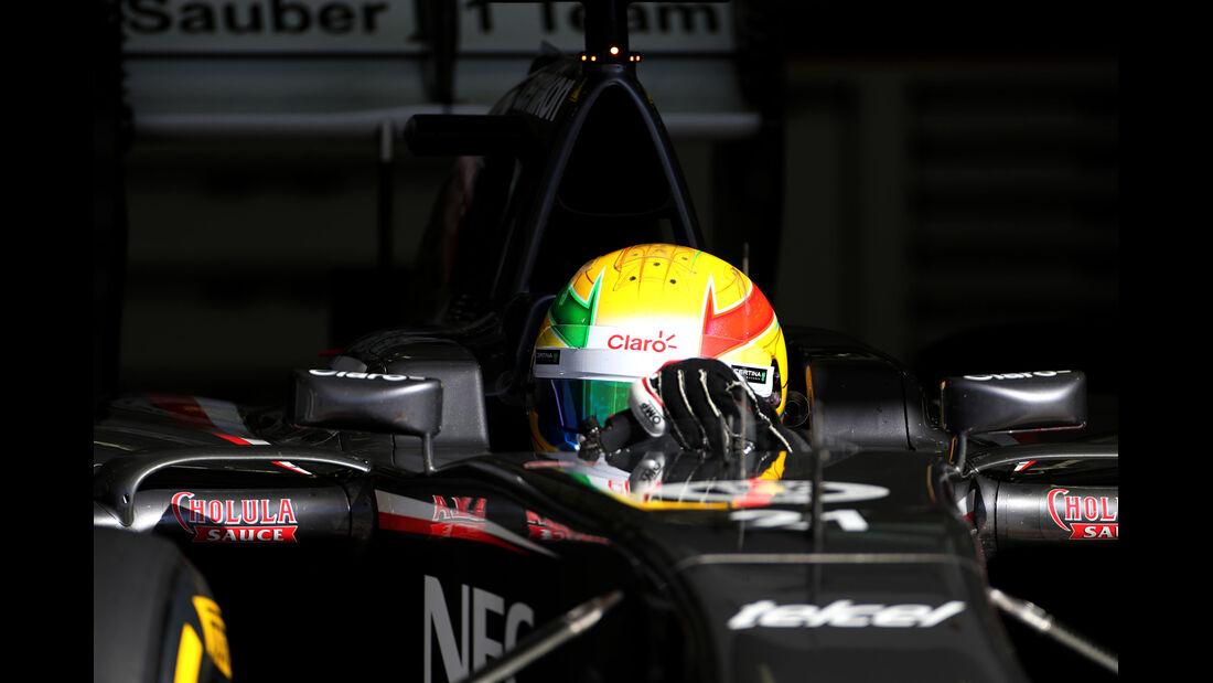 Esteban Gutierrez - Sauber - Formel 1 - Test - Bahrain - 2. März 2014
