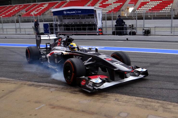 Esteban Gutierrez  - Sauber - Formel 1 - Test - Barcelona - 19. Februar 2013
