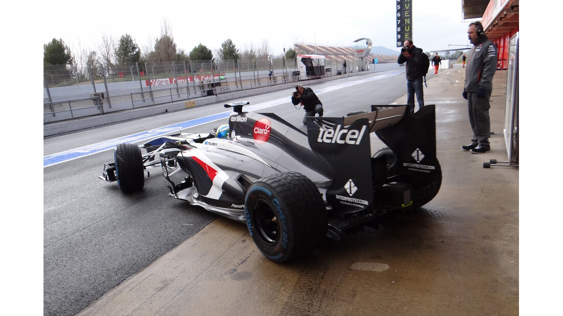 Esteban Gutierrez - Sauber - Formel 1 - Test - Barcelona - 28. Februar 2013