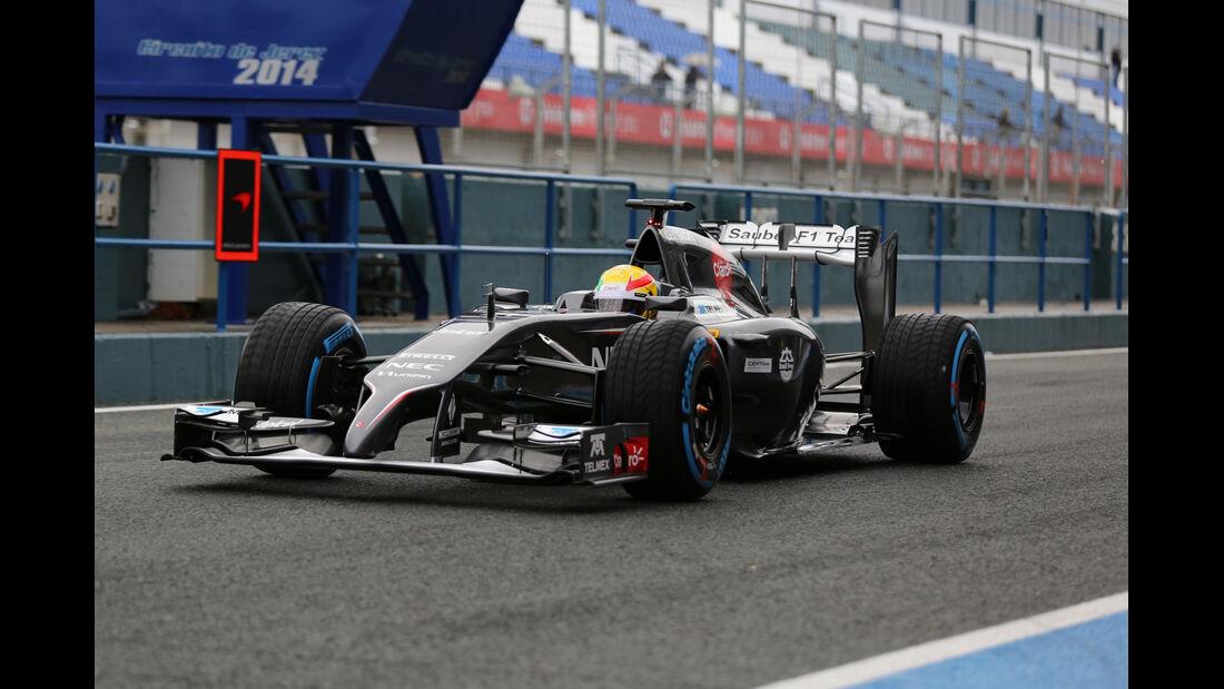 Esteban Gutierrez - Sauber - Formel 1 - Test - Jerez - 29. Januar 2014