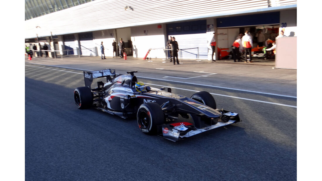 Esteban Gutierrez - Sauber - Formel 1 - Test - Jerez - 7. Februar 2013