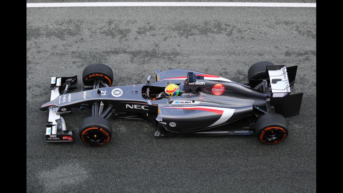 Esteban Gutierrez - Sauber - Jerez - Formel 1 - Test - 29. Januar 2014