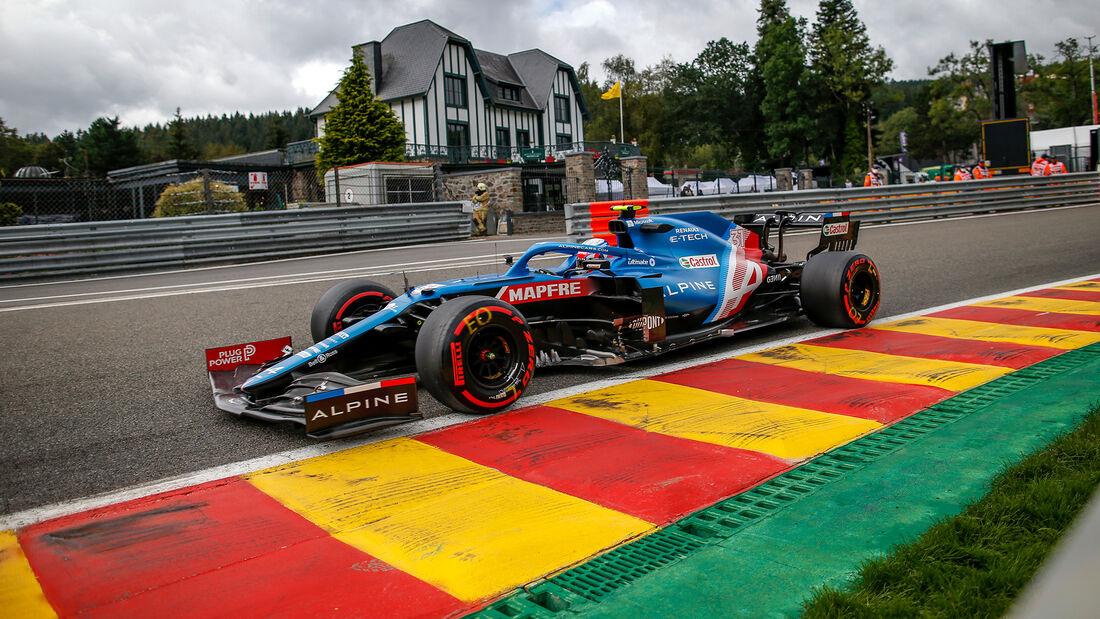 Esteban Ocon - Alpine - Formel 1 - GP Belgien - Spa-Francorchamps - 27. August 2021