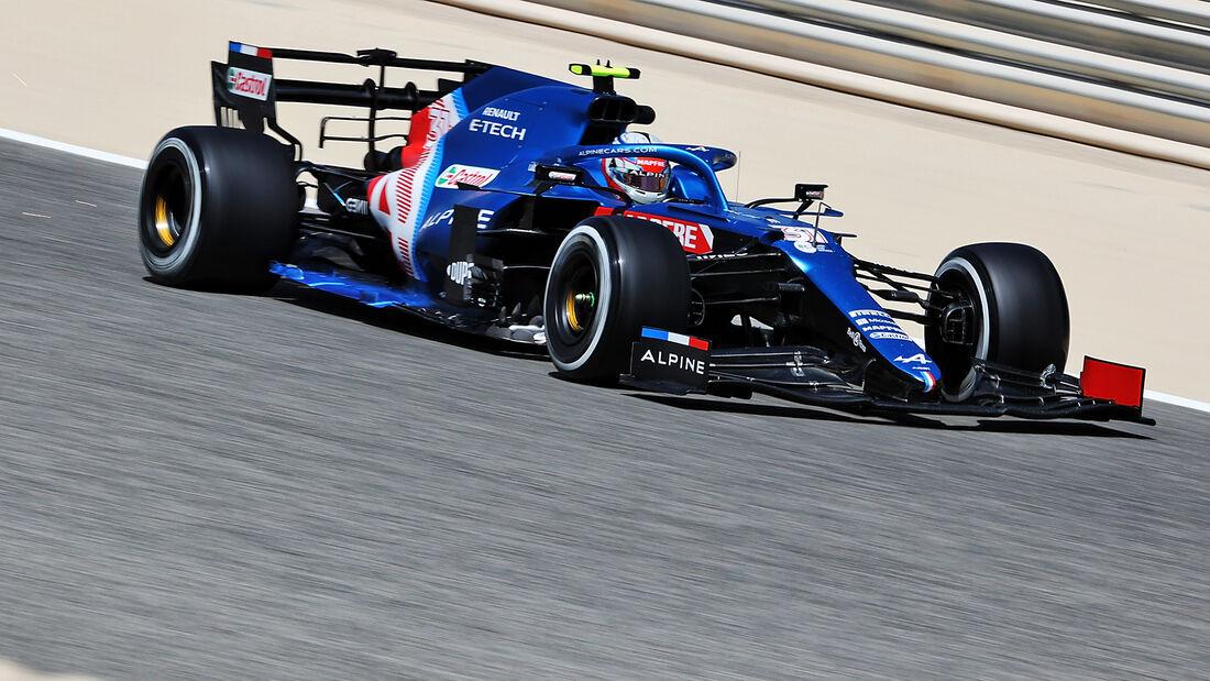 Esteban Ocon - Alpine - Formel 1 - Test - Bahrain - 14. März 2021
