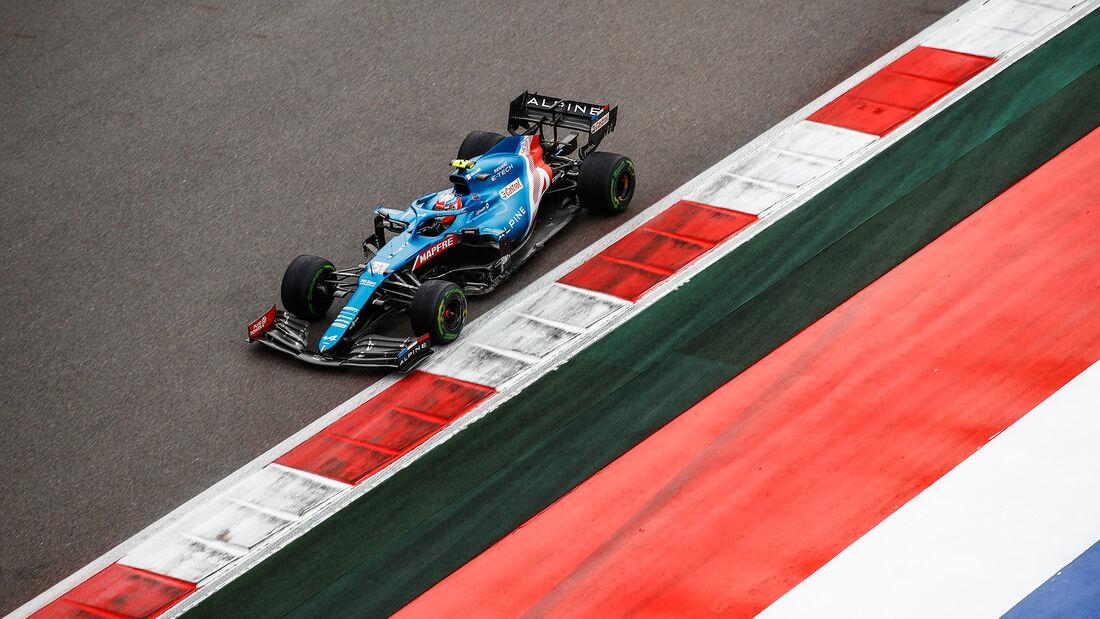 Esteban Ocon - Alpine - GP Russland 2021 - Sotschi - Samstag