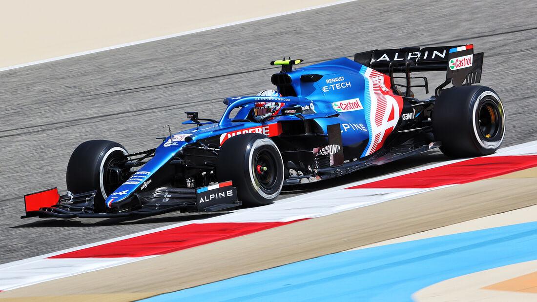 Esteban Ocon - Alpine - Test - Formel 1 - Bahrain - 12. März 2021