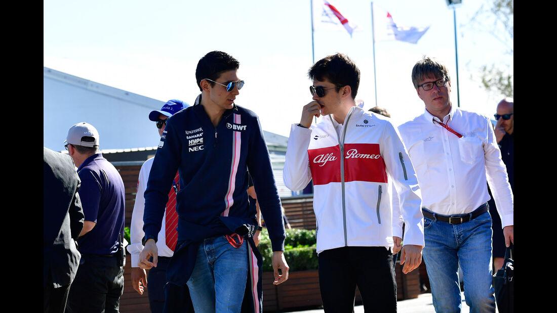 Esteban Ocon - Charles Leclerc - GP Australien 2018 - Melbourne - Albert Park - Freitag - 23.3.2018