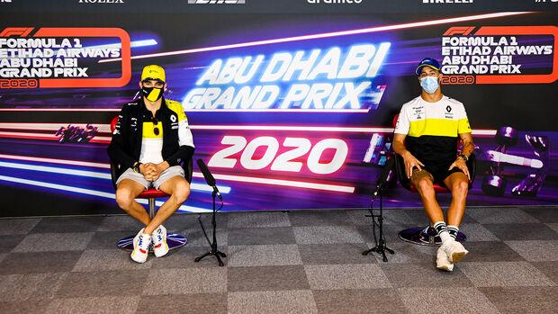 Esteban Ocon - Daniel Ricciardo - GP Abu Dhabi - Donnerstag - 10.12.2020
