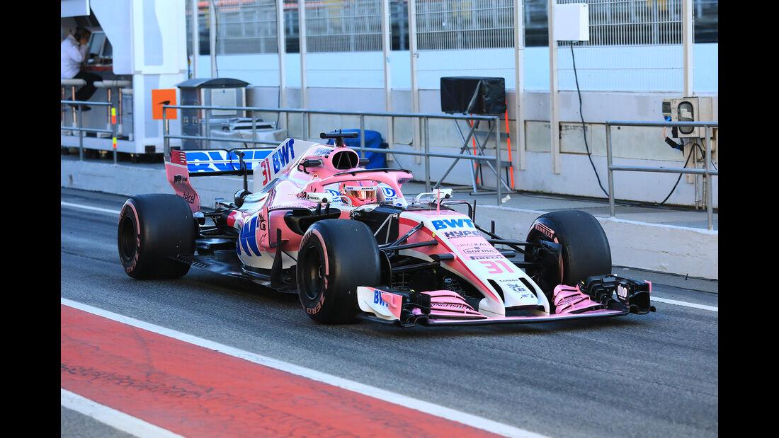 Esteban Ocon - Force India - F1-Test - Barcelona - Tag 8 - 9. März 2018