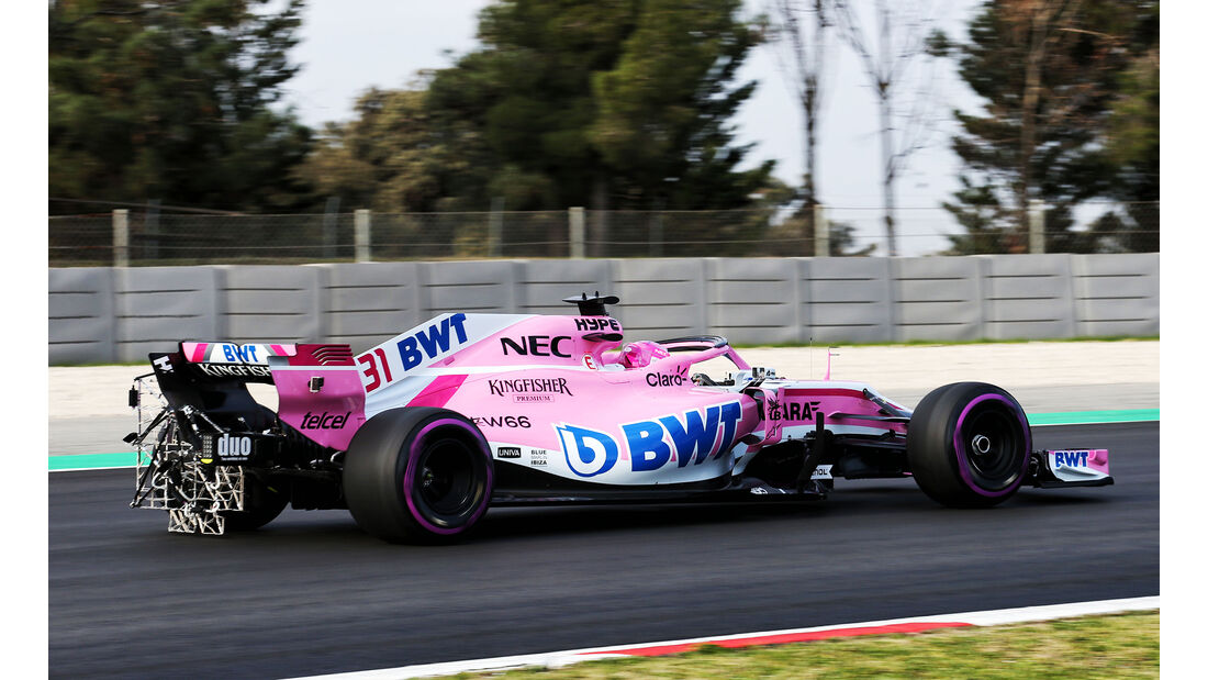Esteban Ocon - Force India - Ferrari - F1-Test - Barcelona - Tag 2 - 27. Februar 2018
