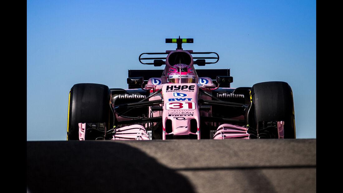Esteban Ocon - Force India - Formel 1 - Abu Dhabi - Test 2 - 29. November 2017