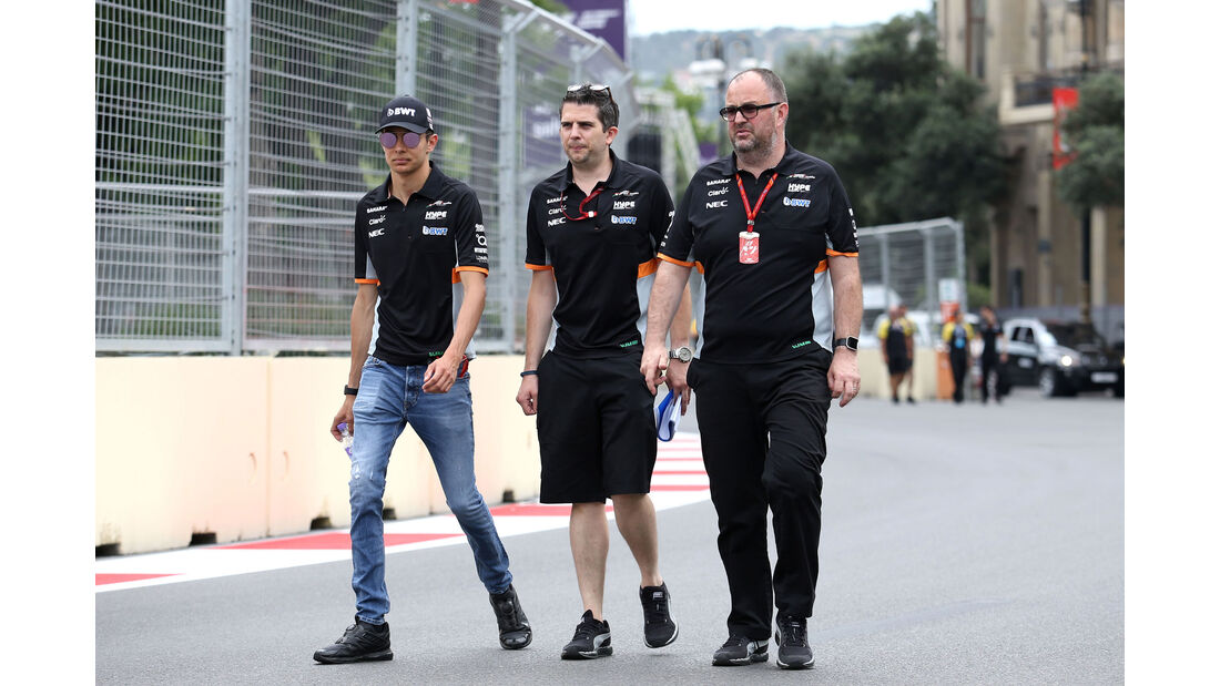 Esteban Ocon - Force India - Formel 1 - GP Aserbaidschan 2017 - Baku - Donnerstag - 22.6.2017