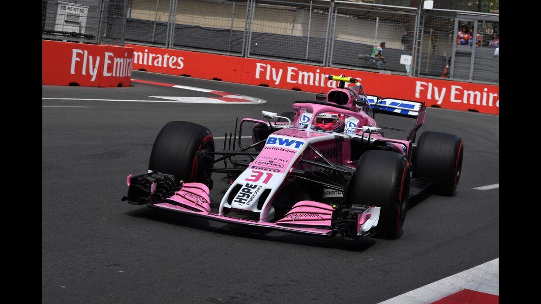 Esteban Ocon - Force India - Formel 1 - GP Aserbaidschan - 27. April 2018
