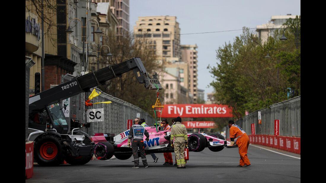 Esteban Ocon - Force India - Formel 1 - GP Aserbaidschan - 29. April 2018