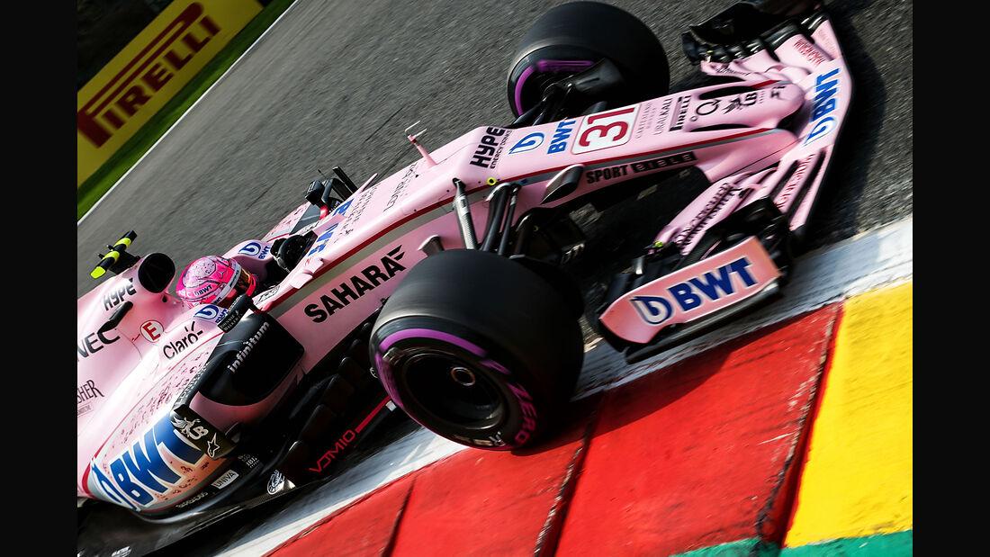 Esteban Ocon - Force India - Formel 1 - GP Belgien - Spa-Francorchamps - 26. August 2017