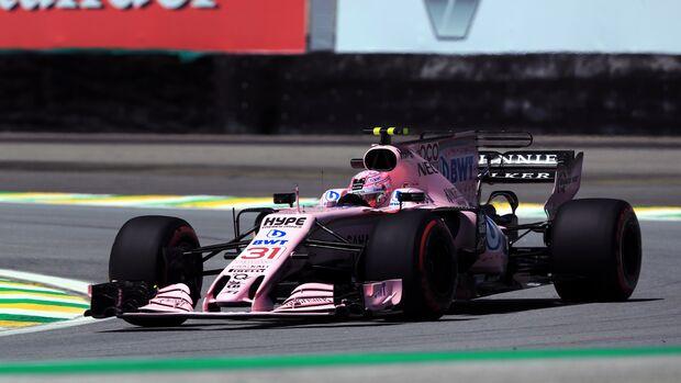 Esteban Ocon - Force India - Formel 1 - GP Brasilien - 10. November 2017