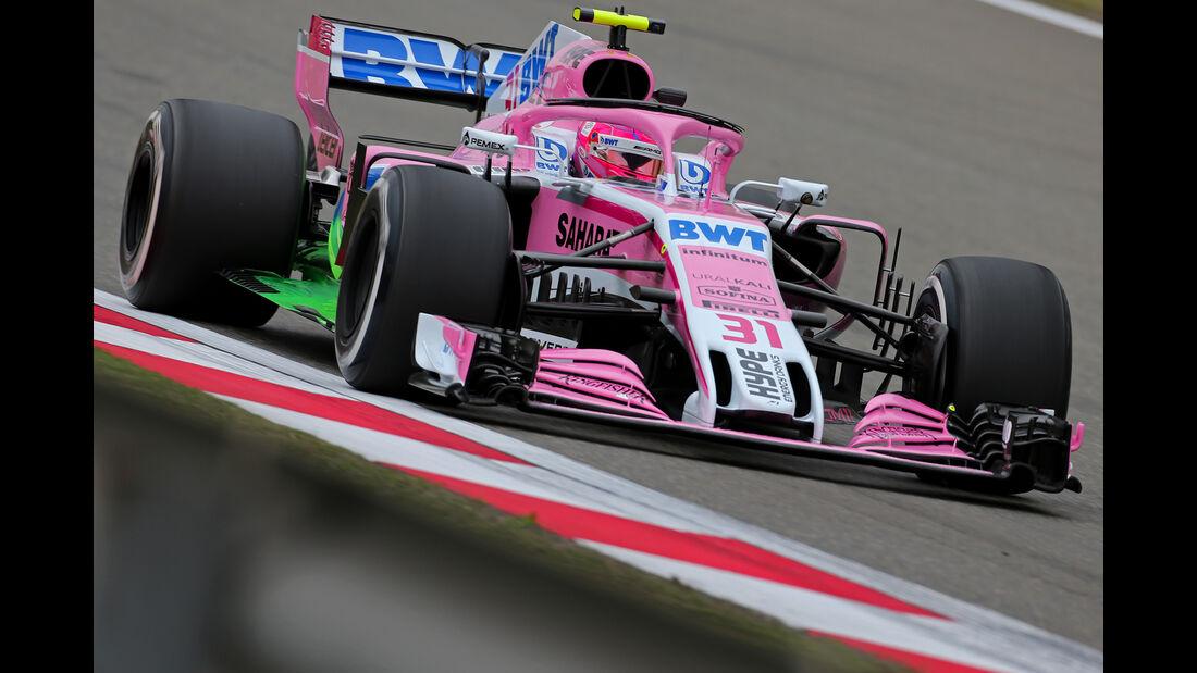 Esteban Ocon - Force India - Formel 1 - GP China - Shanghai - 13. April 2017