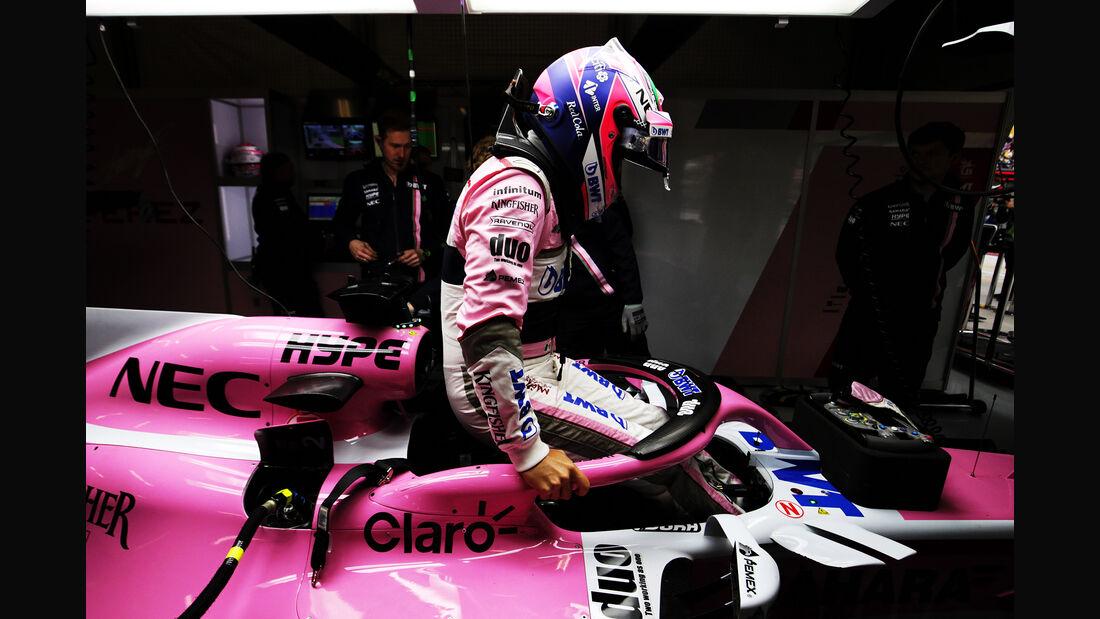 Esteban Ocon - Force India - Formel 1 - GP China - Shanghai - 14. April 2018