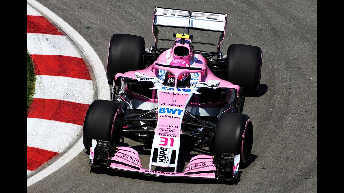 Esteban Ocon - Force India - Formel 1 - GP Kanada - Montreal - 8. Juni 2018