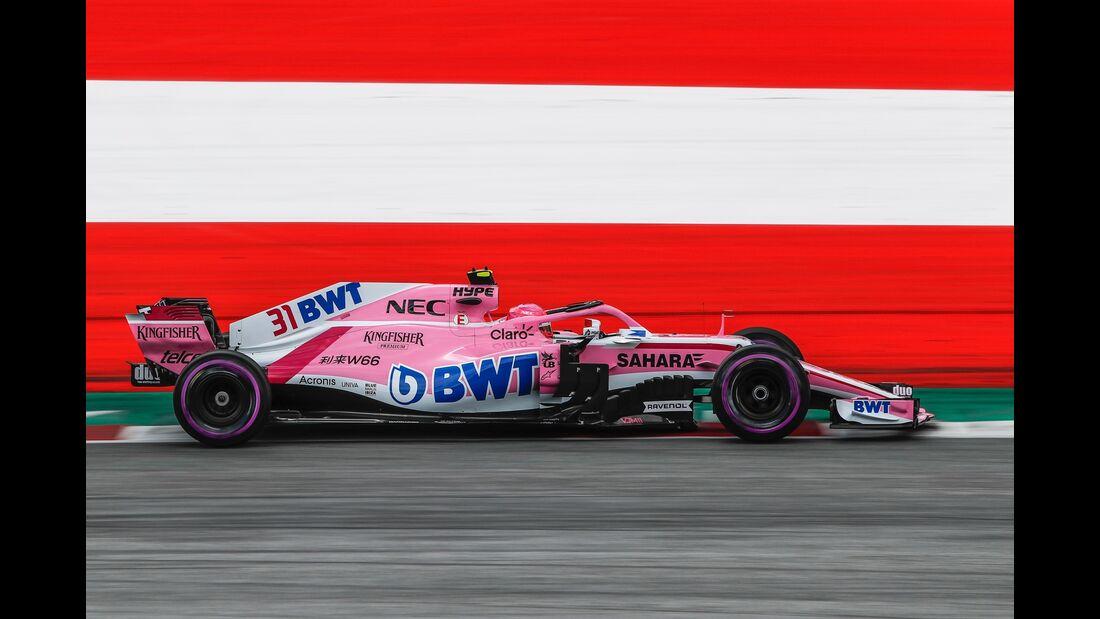 Esteban Ocon - Force India - Formel 1 - GP Österreich - 30. Juni 2018