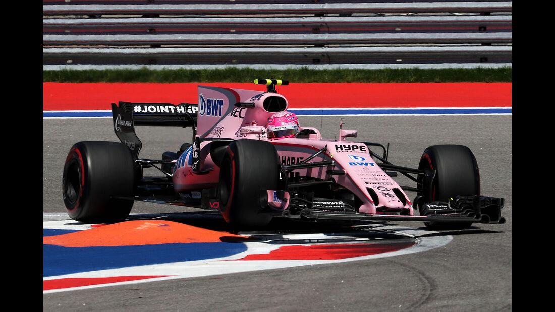 Esteban Ocon - Force India - Formel 1 - GP Russland - Sotschi - 29. April 2017