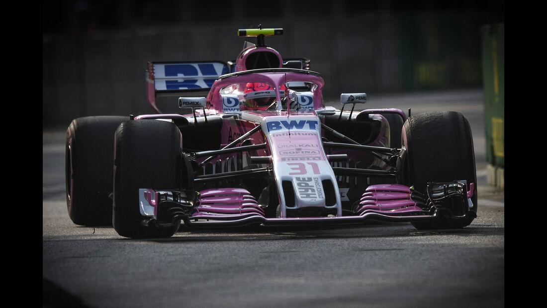 Esteban Ocon - Force India - Formel 1 - GP Singapur - 14. September 2018