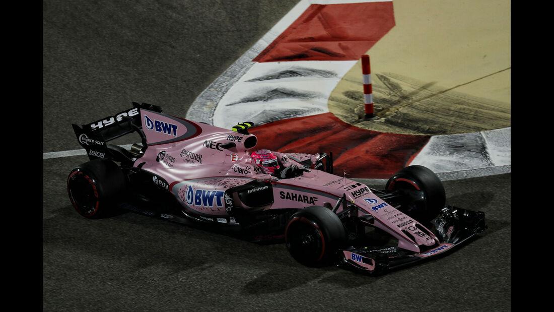 Esteban Ocon - Force India - GP Bahrain 2017 - Rennen