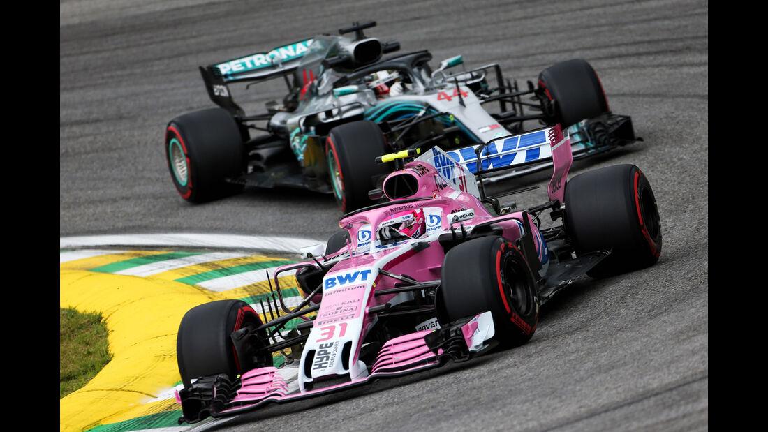 Esteban Ocon - Force India - GP Brasilien - Interlagos - Formel 1 - Freitag - 9.11.2018